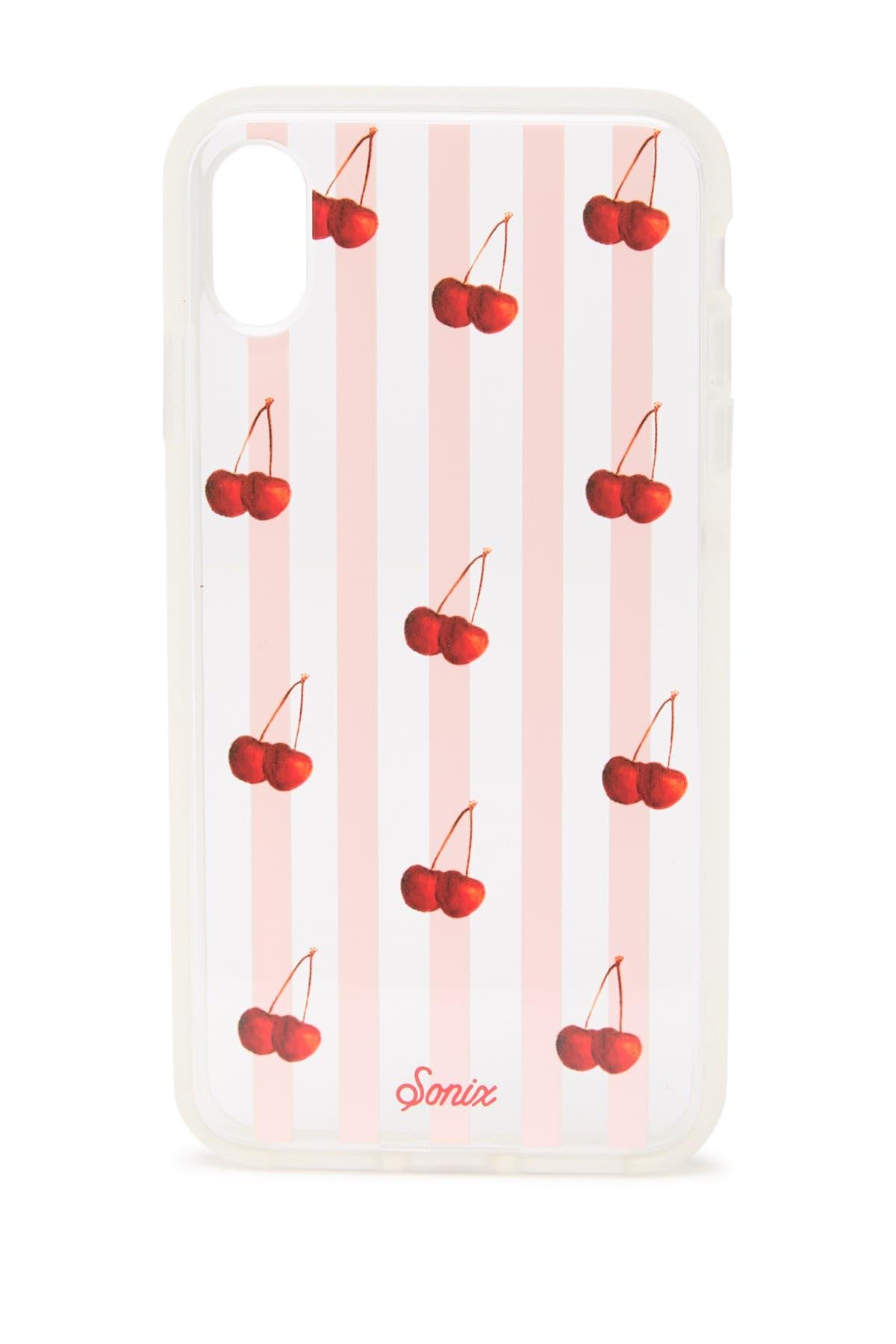Image of SONIX Cherry Stripe iPhone Case