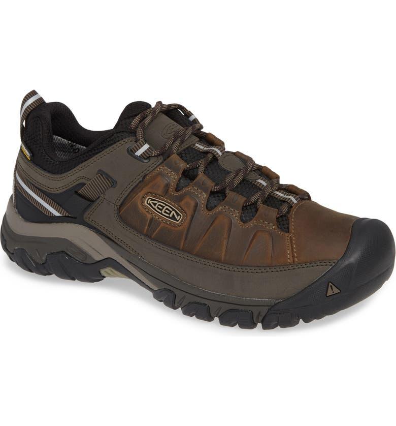 KEEN Targhee III Waterproof Wide Hiking Shoe, Main, color, BUNGEE CORD/ BLACK