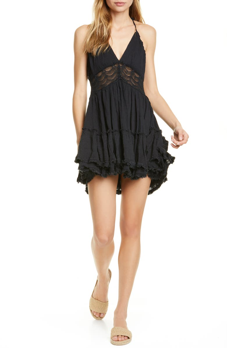 FREE PEOPLE Endless Summer by Free People 200 Degree Minidress, Main, color, BLACK