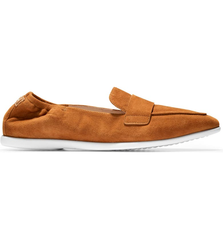 COLE HAAN Grand Ambition Amador Loafer, Main, color, BRITISH TAN SUEDE/ WHITE