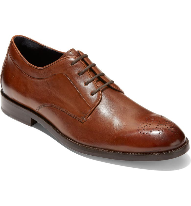 COLE HAAN Harrison Grand 2.0 Medallion Toe Derby, Main, color, BRITISH TAN