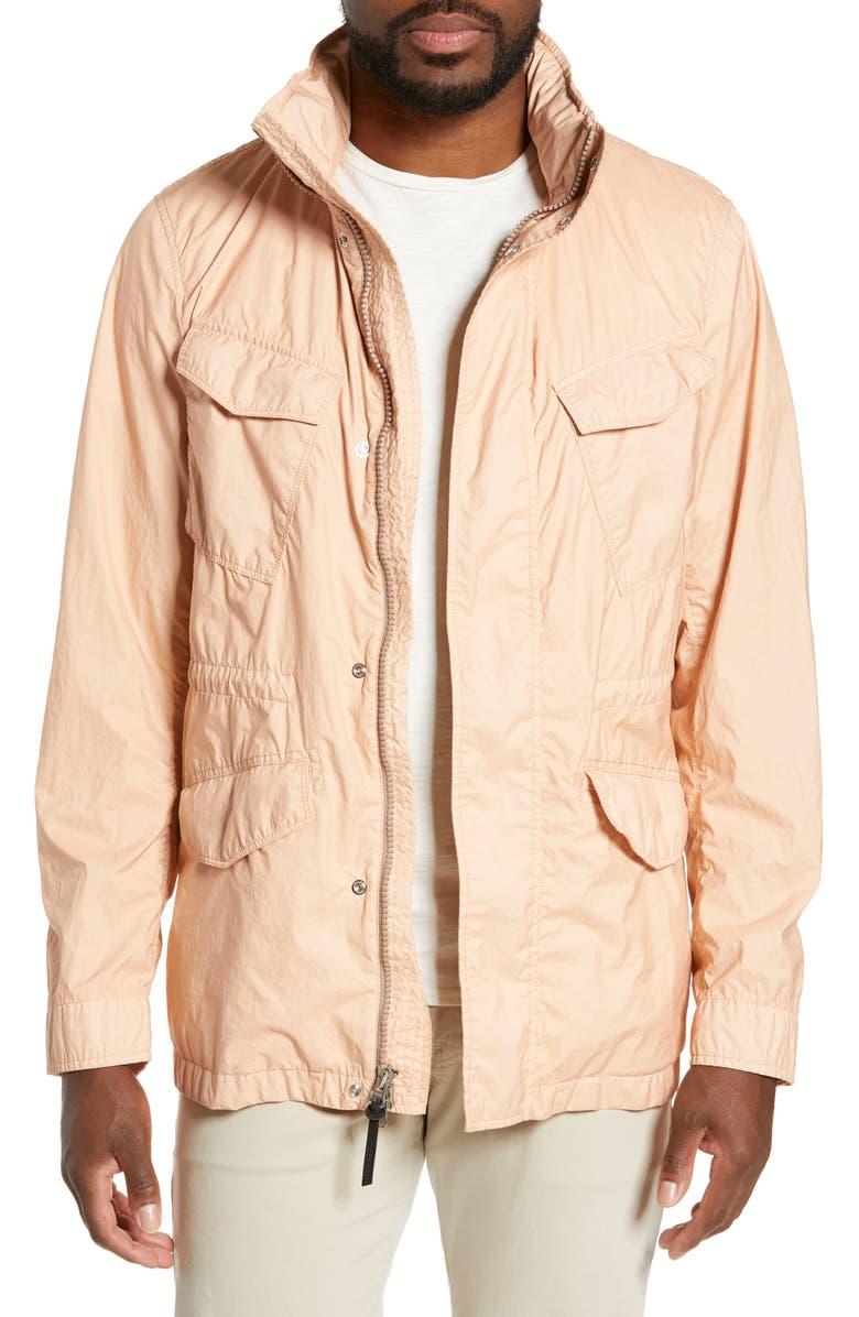 WOOLRICH Garment Dyed Field Jacket, Main, color, ROSE GREY