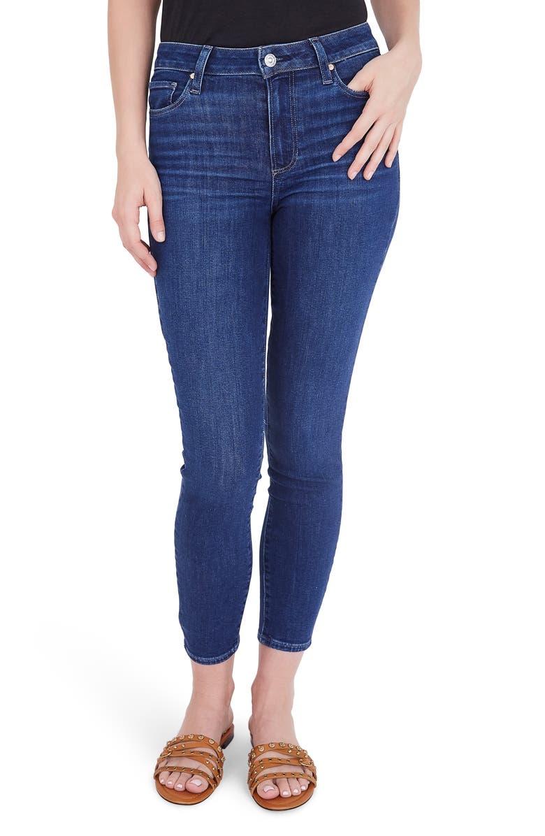 PAIGE Hoxton Crop Skinny Jeans, Main, color, MAI TAI