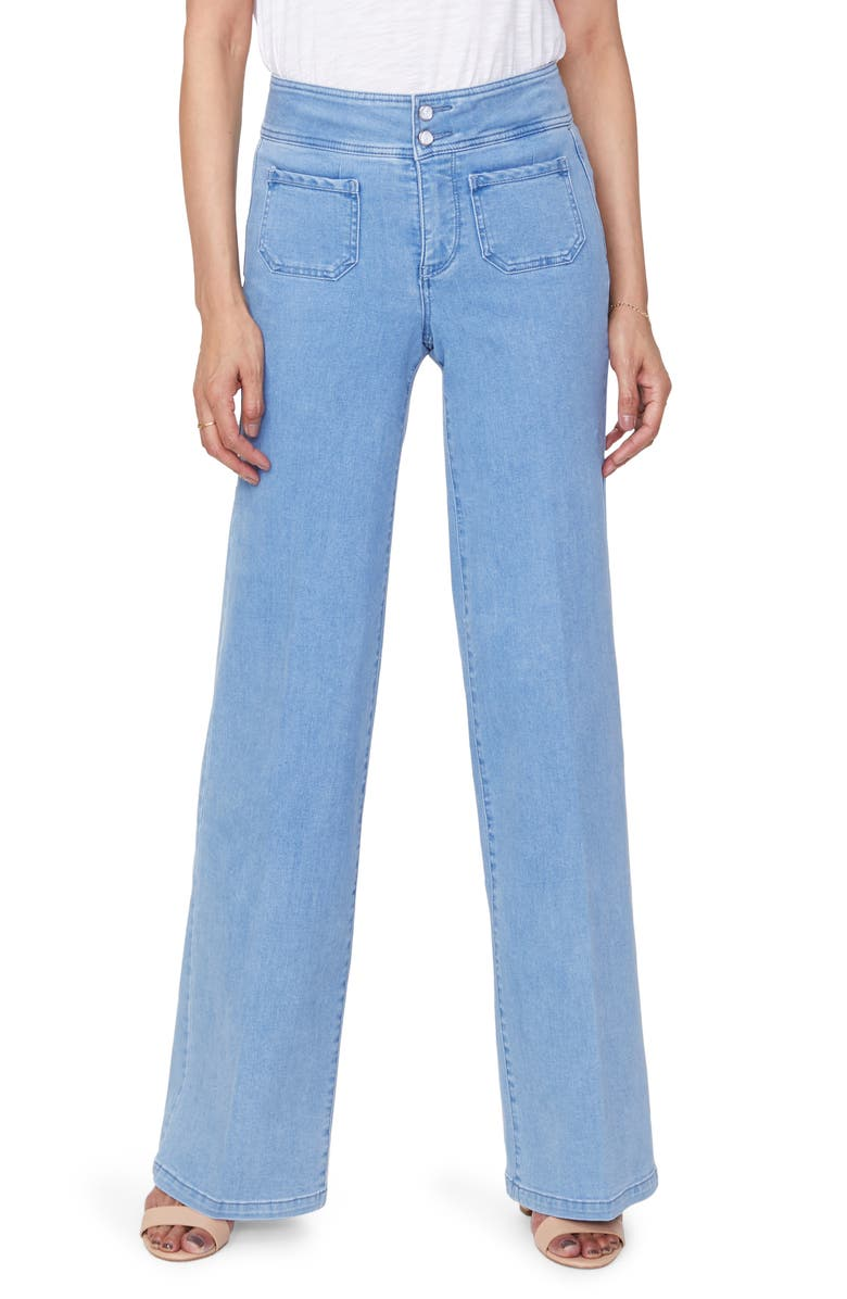 NYDJ Teresa Wide Leg Trouser Jeans, Main, color, BELLE ISLE