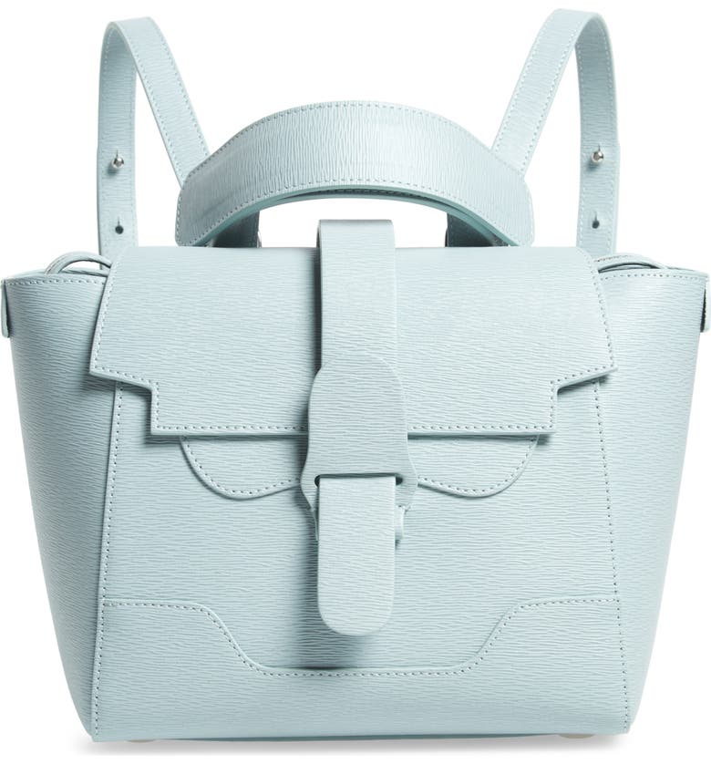 SENREVE Mini Maestra Leather Satchel, Main, color, SPEARMINT