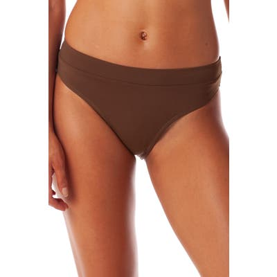 Rhythm Islander Xanadu High Cut Bikini Bottoms, Brown