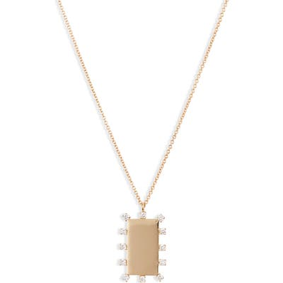 Bony Levy Kiera Scattered Diamond Dog Tag Pendant Necklace (Nordstrom Exclusive)