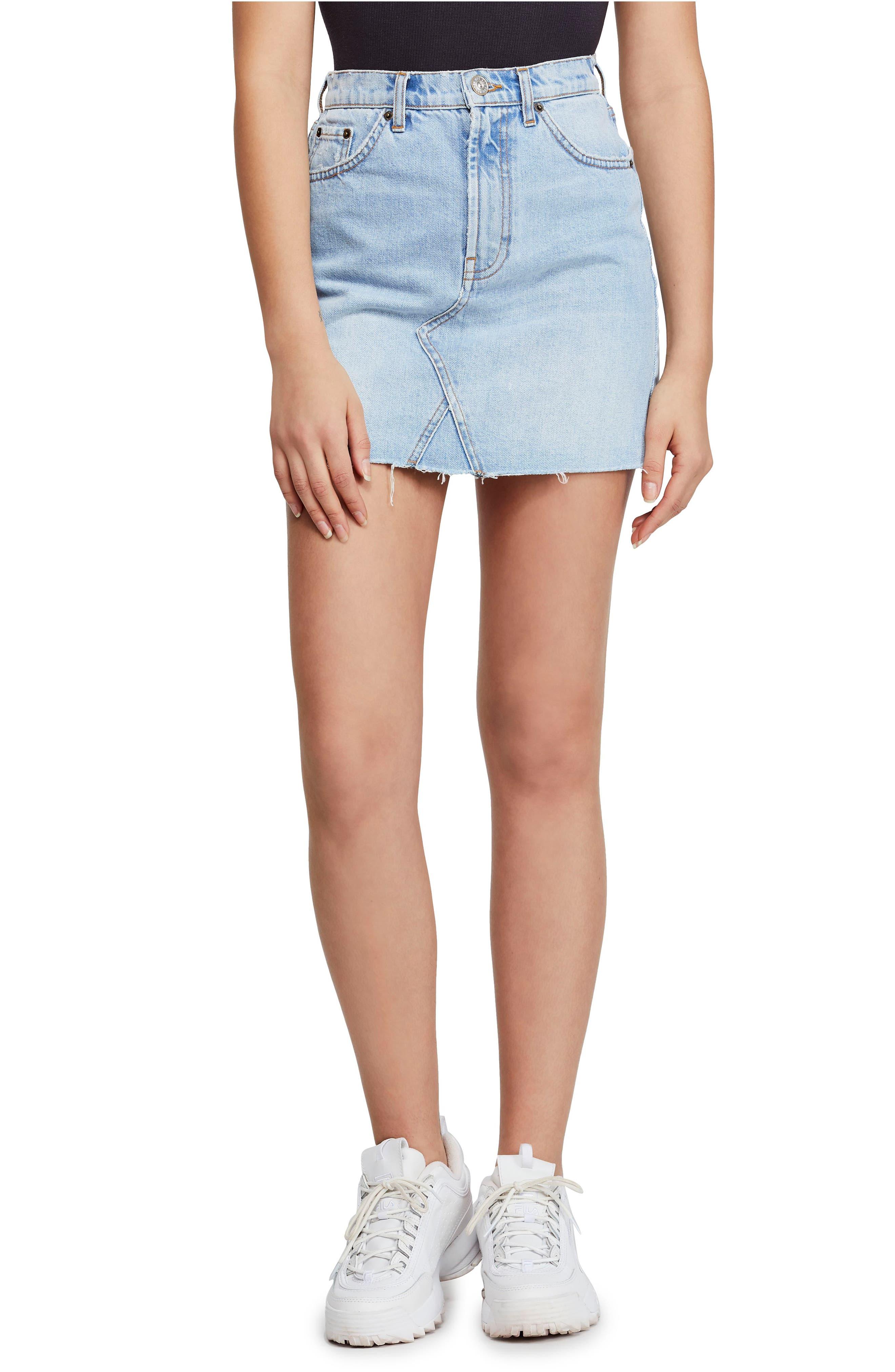 Bdg Urban Outfitters Austin Cutoff Denim Miniskirt, Blue