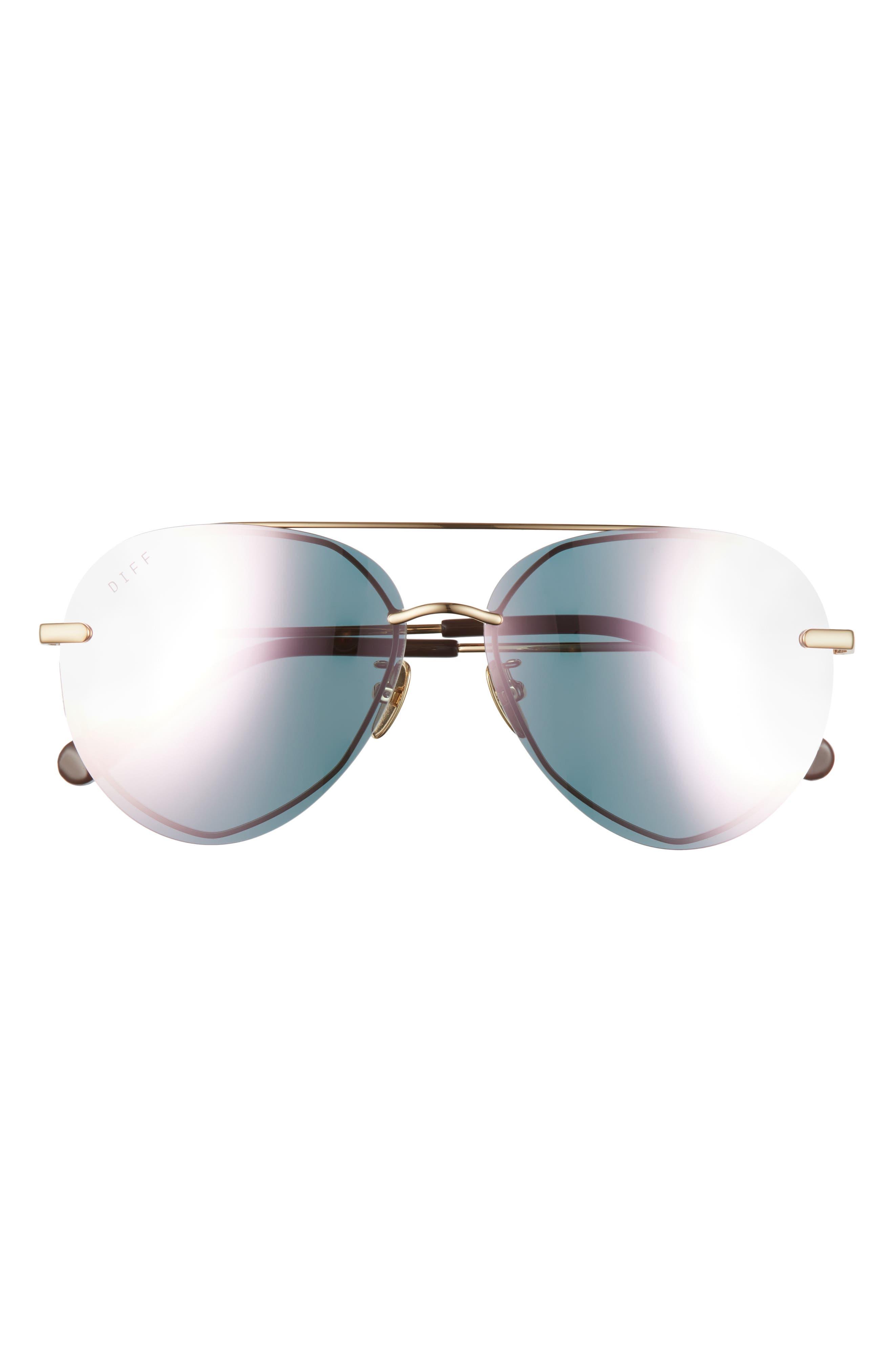 Lenox 62mm Oversize Aviator Sunglasses