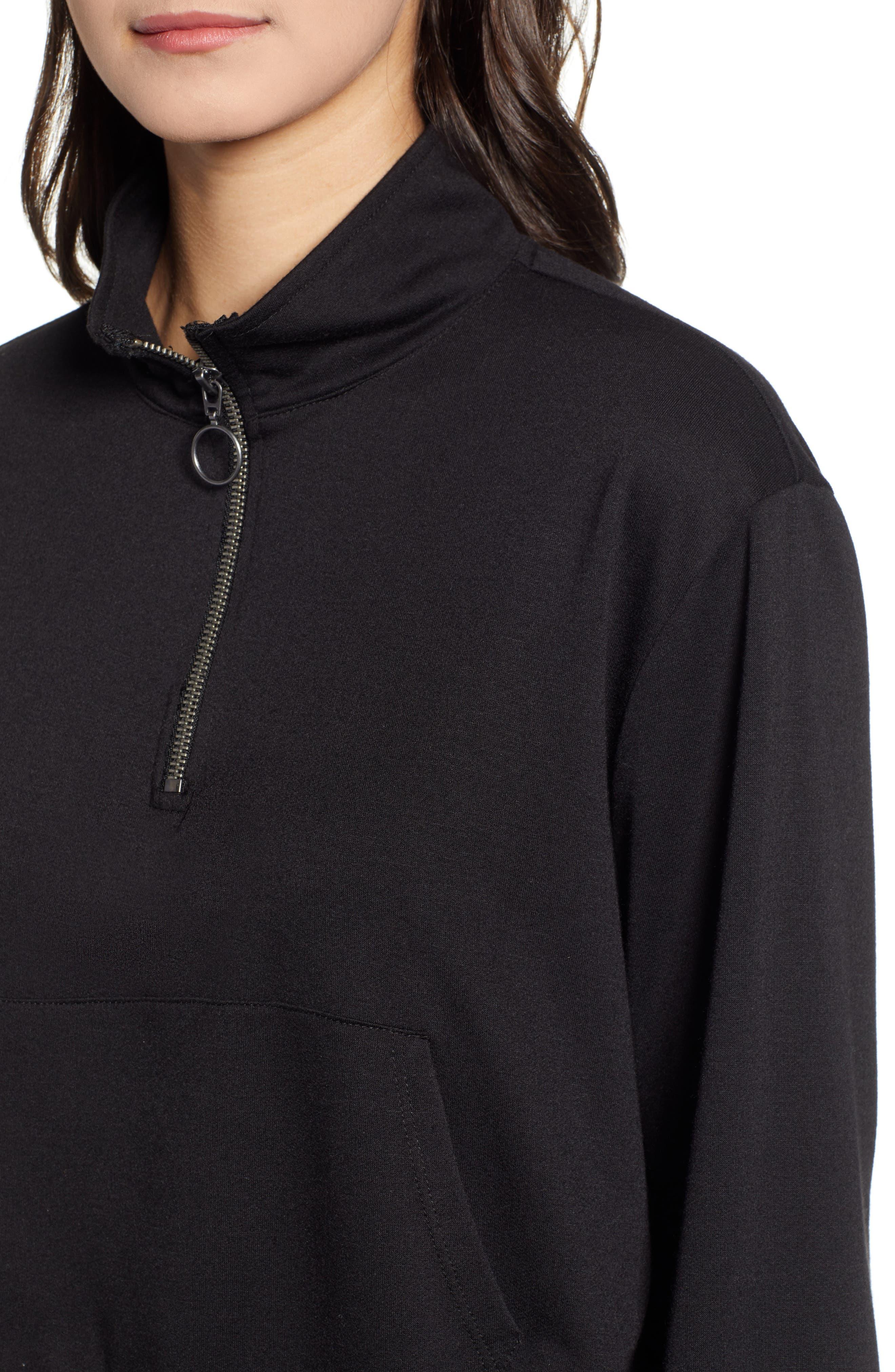 ,                             Crop Half Zip Pullover,                             Alternate thumbnail 4, color,                             001