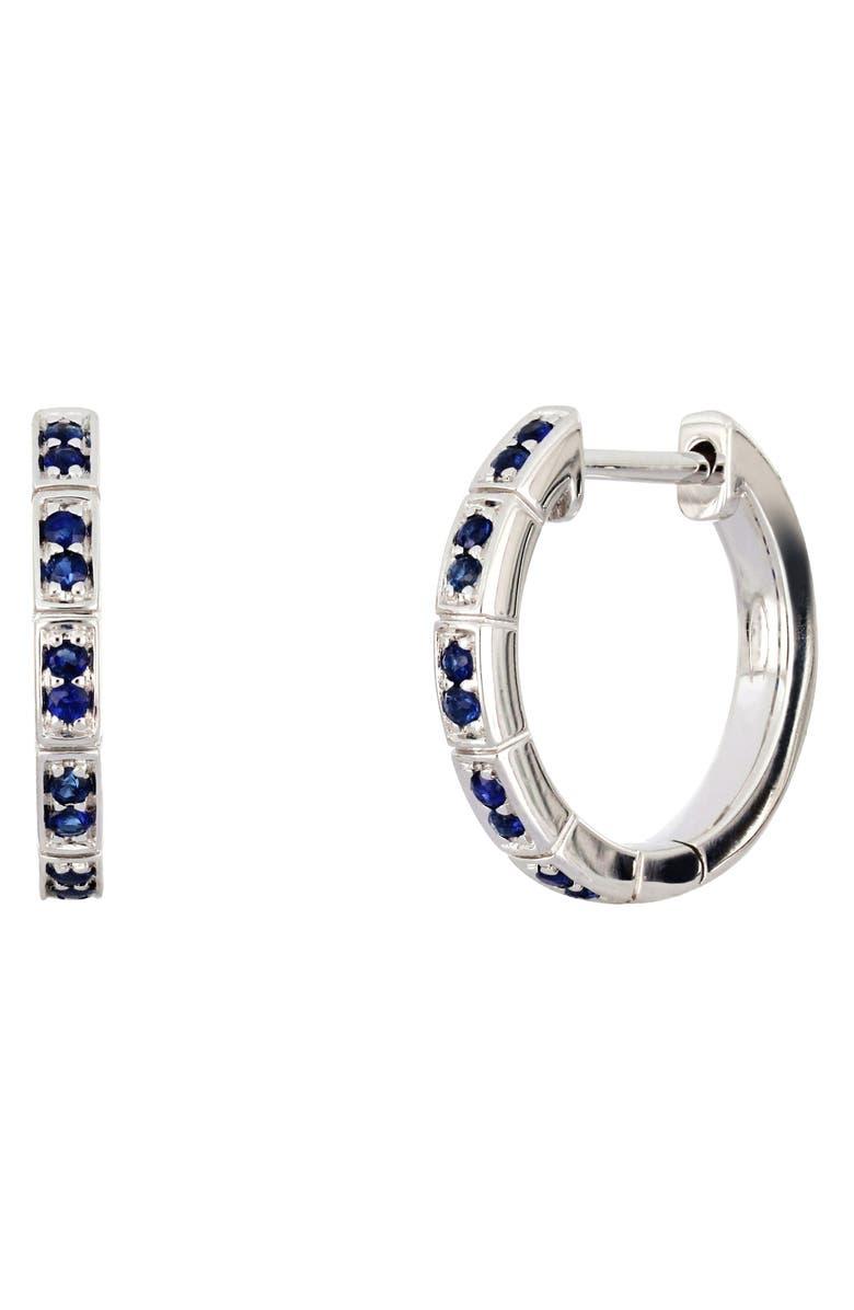 BONY LEVY Sapphire Hoop Earrings, Main, color, 711