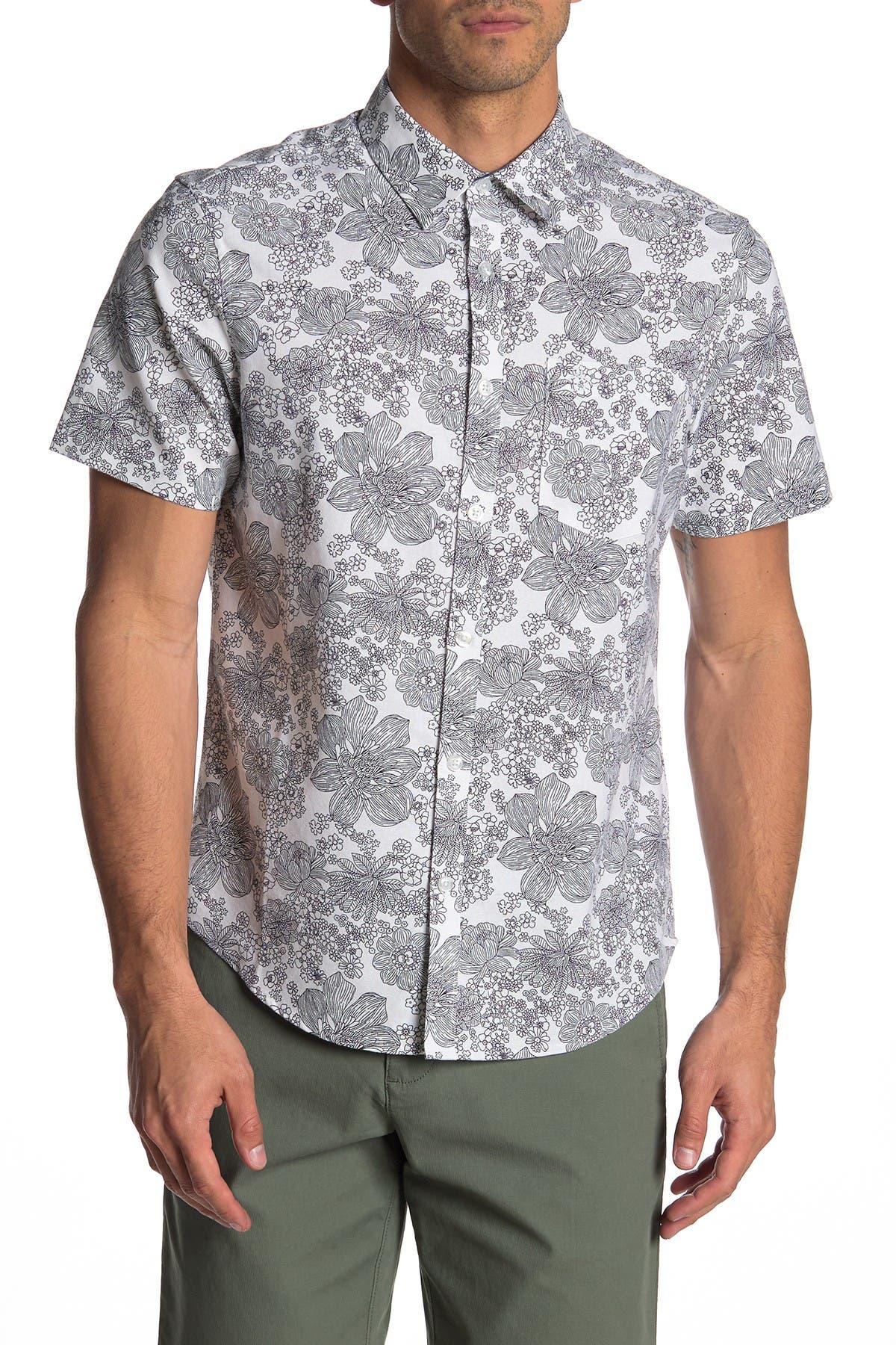 Image of Original Penguin Floral Heritage Slim Fit Shirt
