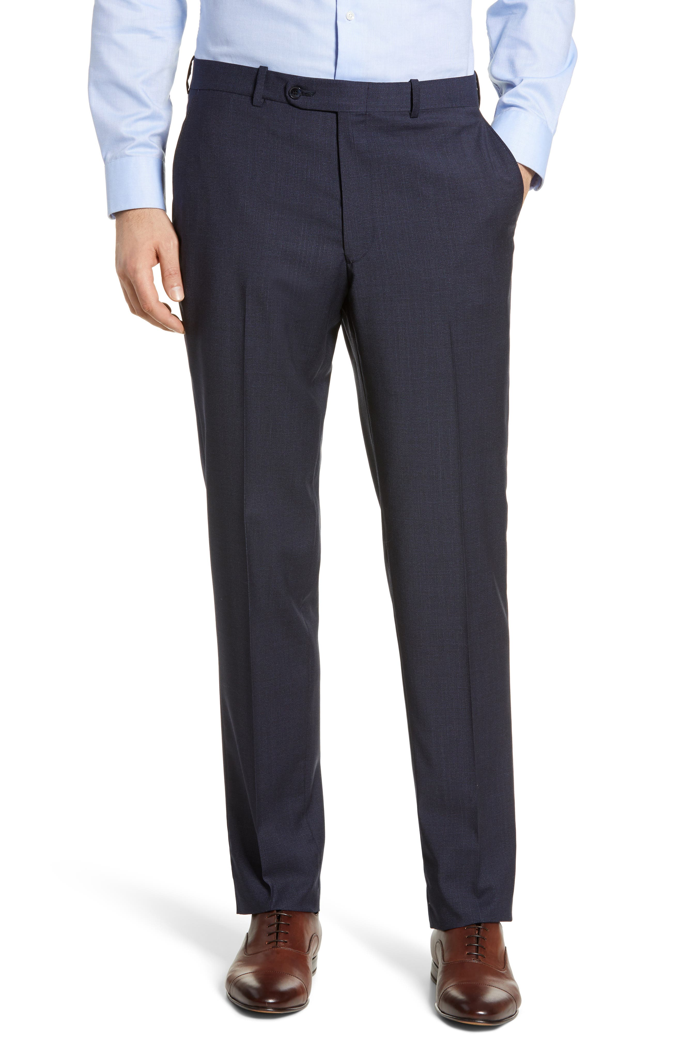 ,                             Flynn Classic Fit Check Wool Suit,                             Alternate thumbnail 7, color,                             NAVY