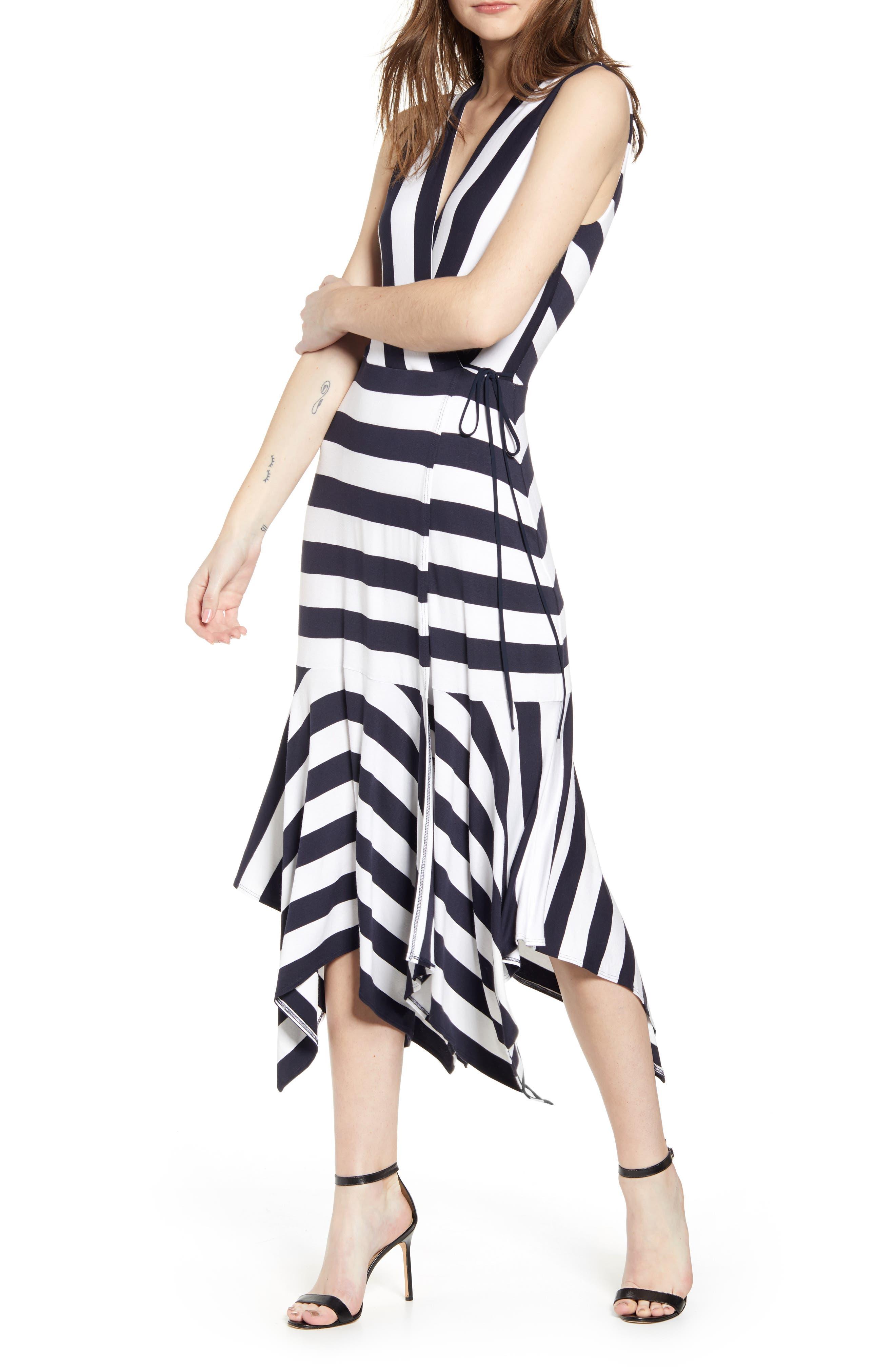 Bailey 44 Alexandria Stripe Midi Dress, Blue