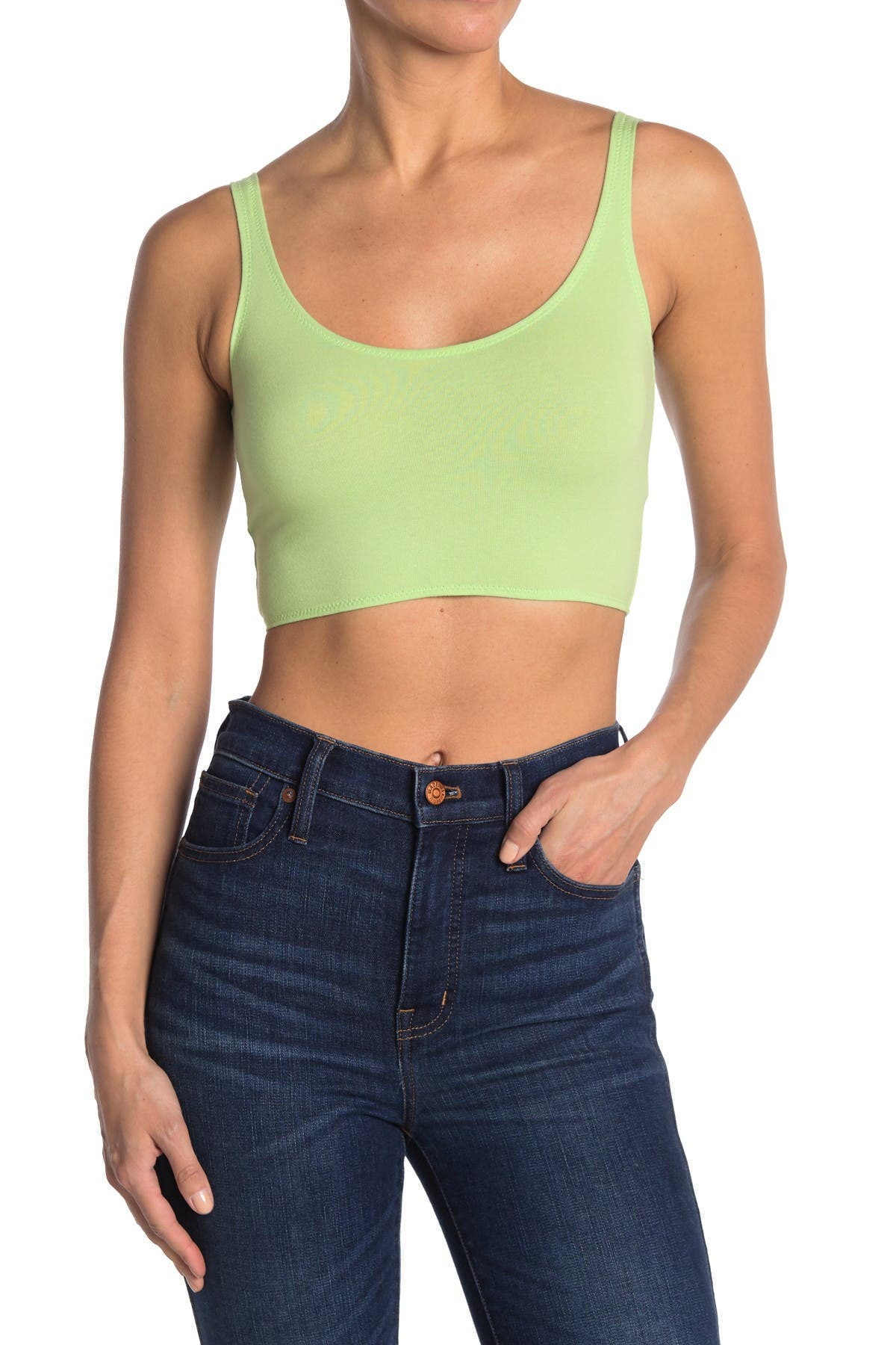Image of TOPSHOP Zig Zag Cropped Cami