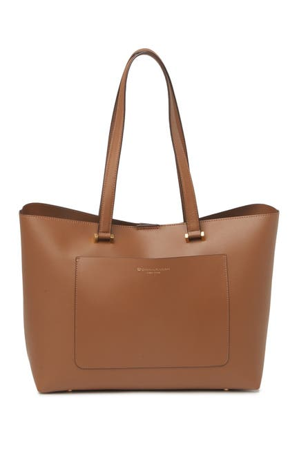 Image of Donna Karan Karla Leather East/West Tote