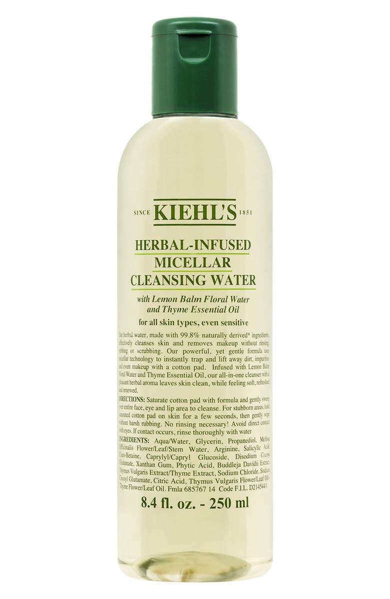 KIEHL'S SINCE 1851 Herbal-Infused Micellar Cleansing Water, Main, color, NO COLOR