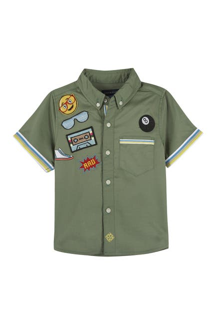 Image of Andy & Evan Patches Short Sleeve Shirt