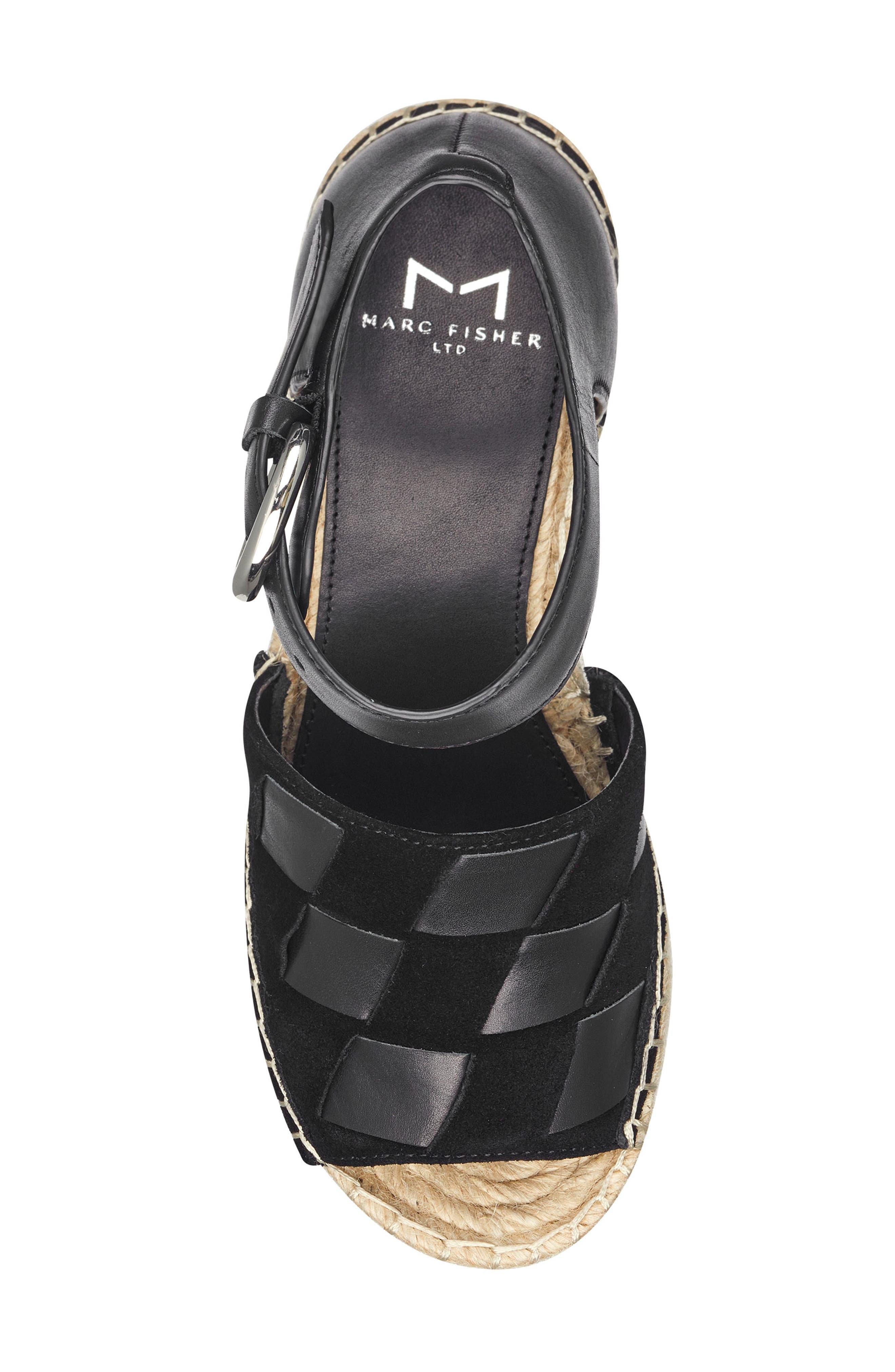 ,                             Adalla Platform Wedge Sandal,                             Alternate thumbnail 12, color,                             001