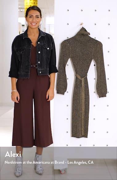 Shine Bright Long Sleeve Metallic Sweater Dress, sales video thumbnail