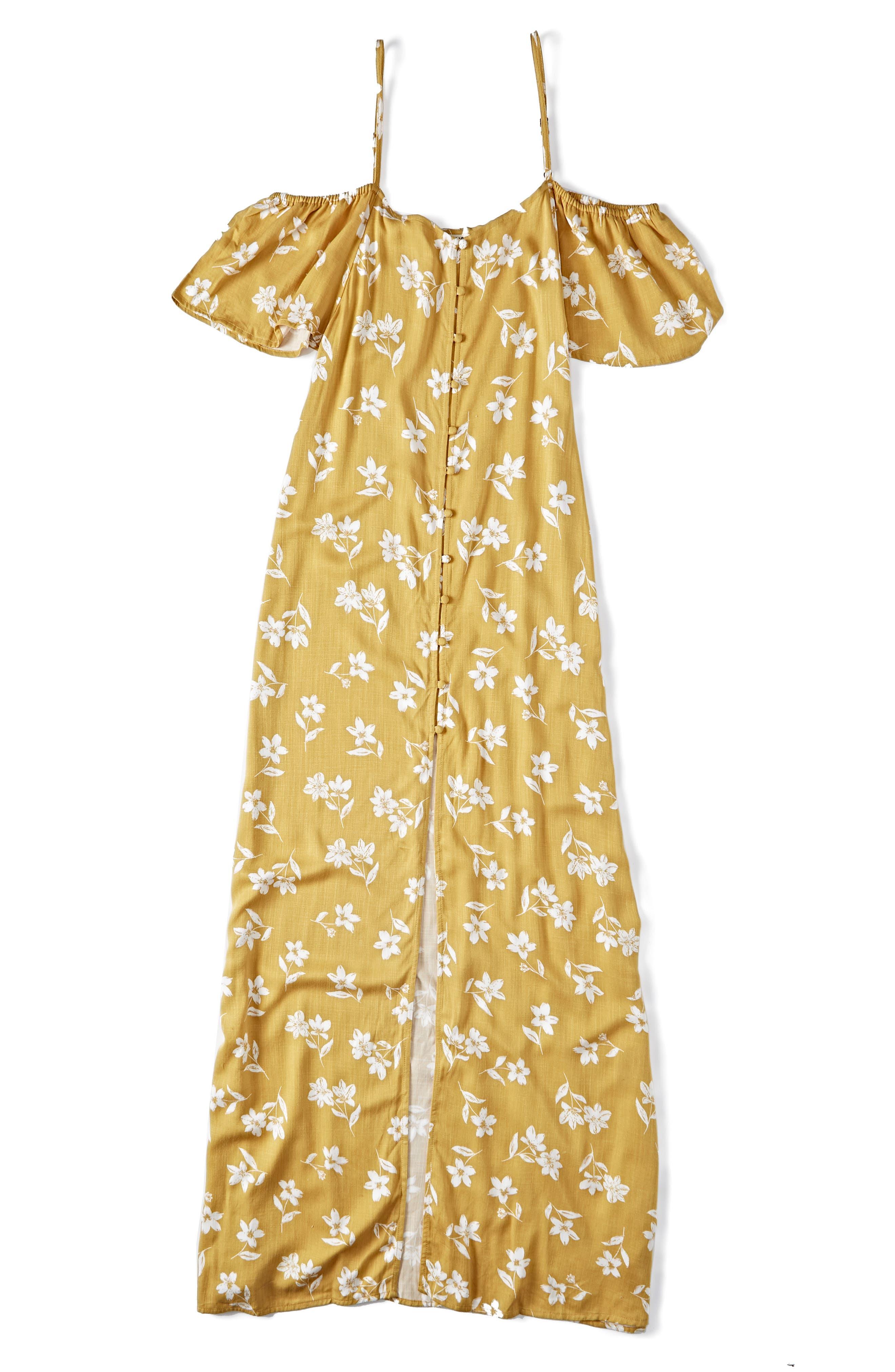 ,                             x Sincerely Jules Cold Shoulder Sway Maxi Dress,                             Alternate thumbnail 5, color,                             CITRUS