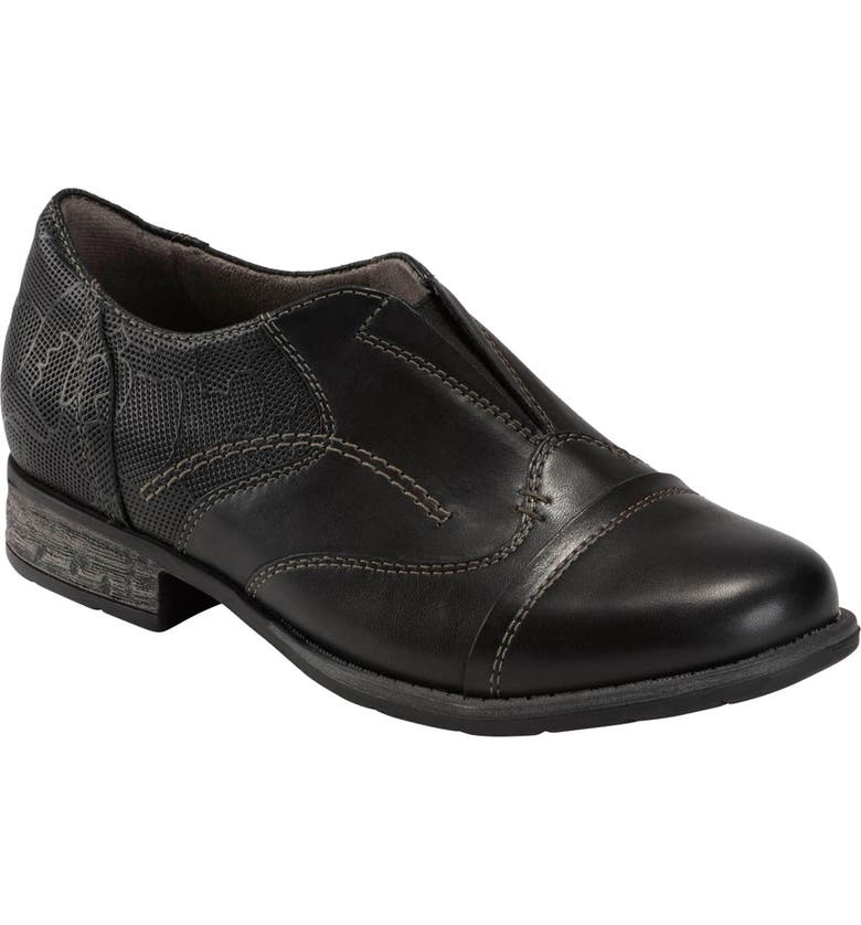 EARTH<SUP>®</SUP> Avani Banyan Slip-On Oxford, Main, color, BLACK LEATHER