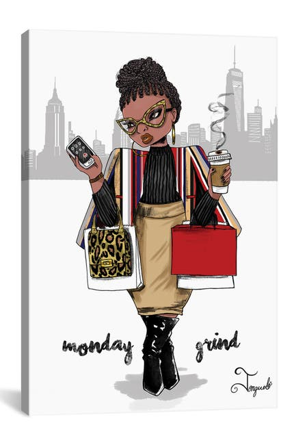 Image of iCanvas Monday Grind by Jonquel Art