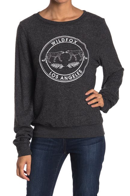 Image of WILDFOX Logo Brushed Knit Pullover
