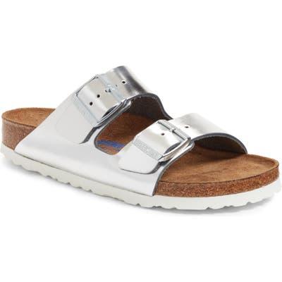 Birkenstock Arizona Soft Footbed Sandal, Metallic