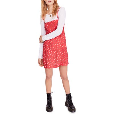 Free People Wild Child Minidress, Red