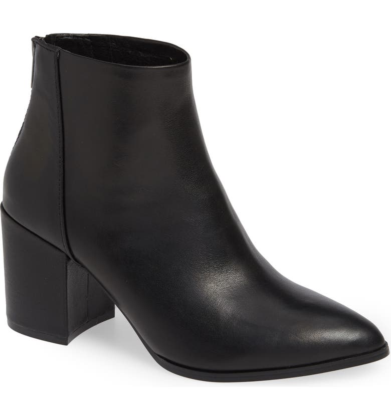 STEVE MADDEN Jillian Bootie, Main, color, BLACK LEATHER