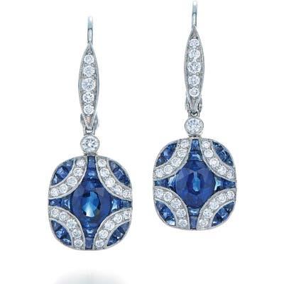 Kwiat Sapphire & Diamond Drop Earrings