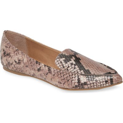Steve Madden Feather Loafer Flat, Pink