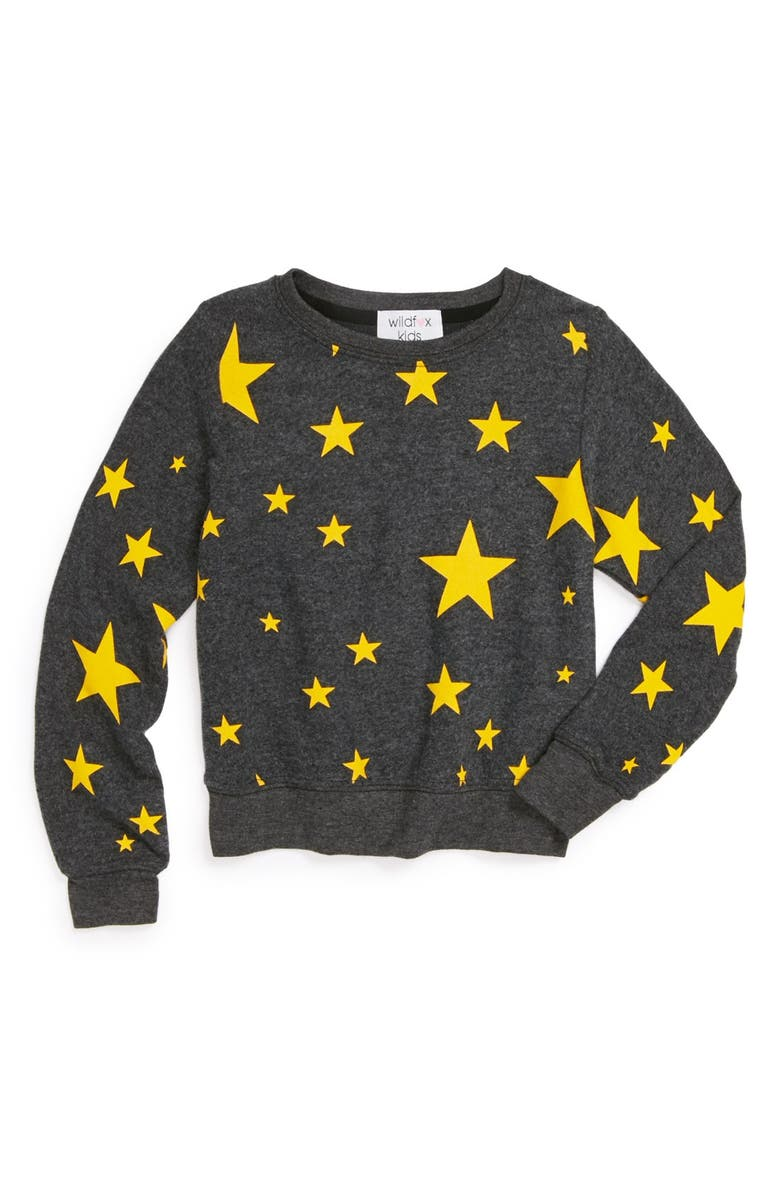 WILDFOX 'Disco Stars' Sweatshirt, Main, color, 002