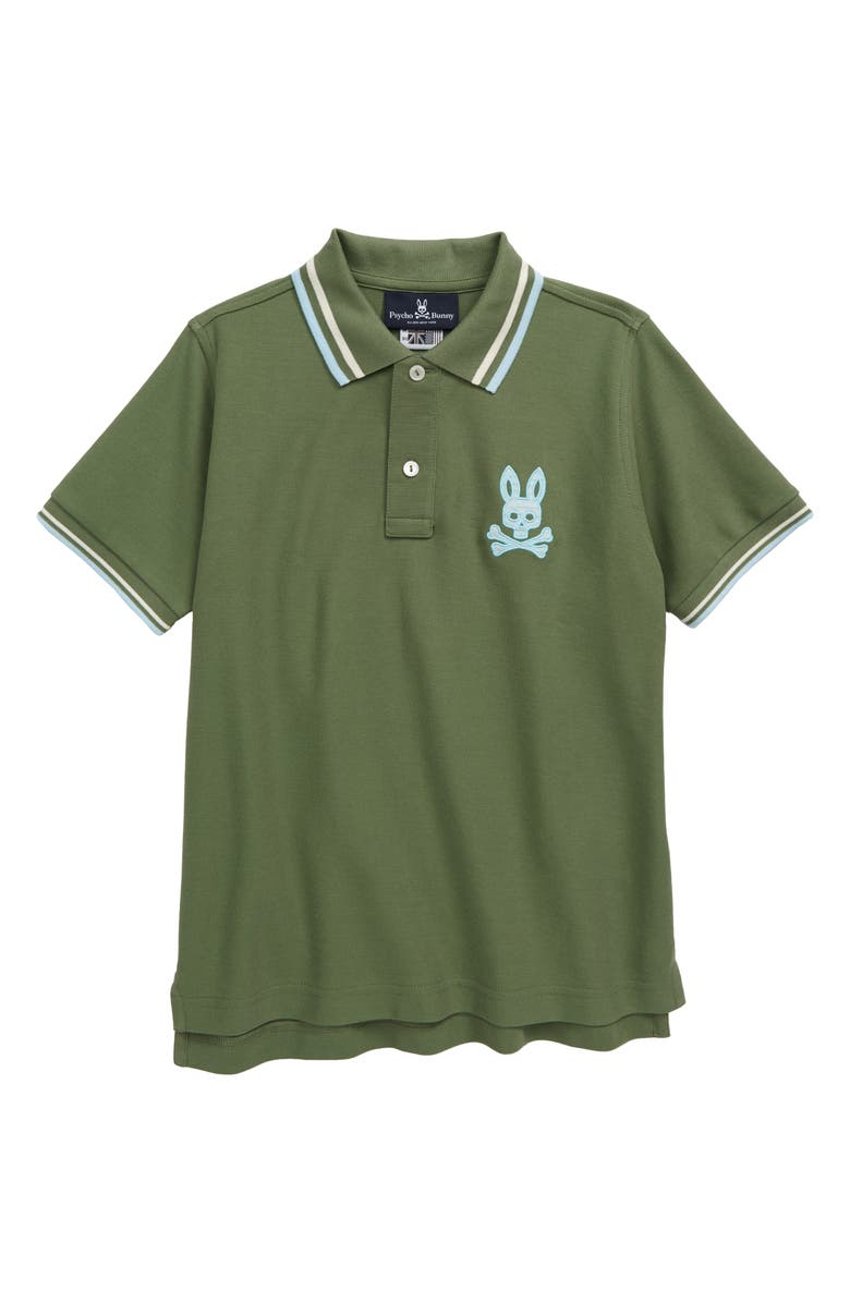 PSYCHO BUNNY Underwood Polo, Main, color, GREEN