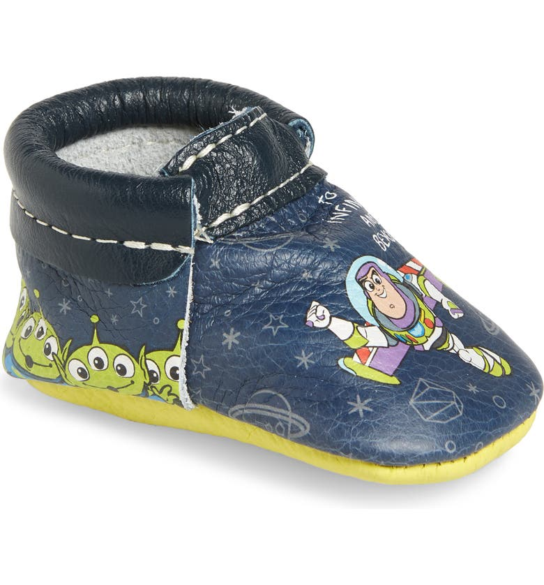 FRESHLY PICKED x Disney Buzz Moccasin, Main, color, MULTI/ GRAY