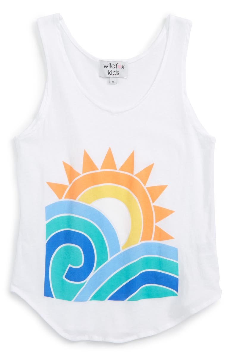 WILDFOX Sun and Surf Cotton Tank, Main, color, 100