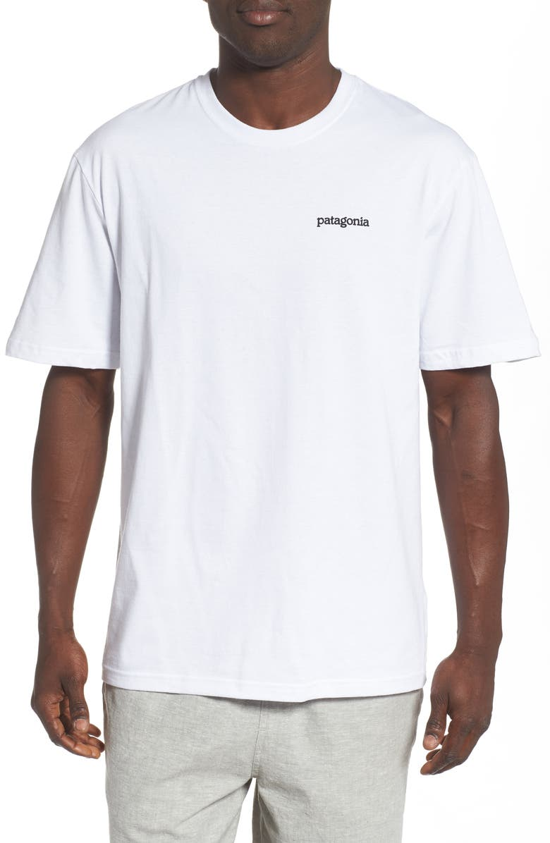 PATAGONIA Fitz Roy Horizons Graphic Responsibili-Tee T-Shirt, Main, color, WHITE
