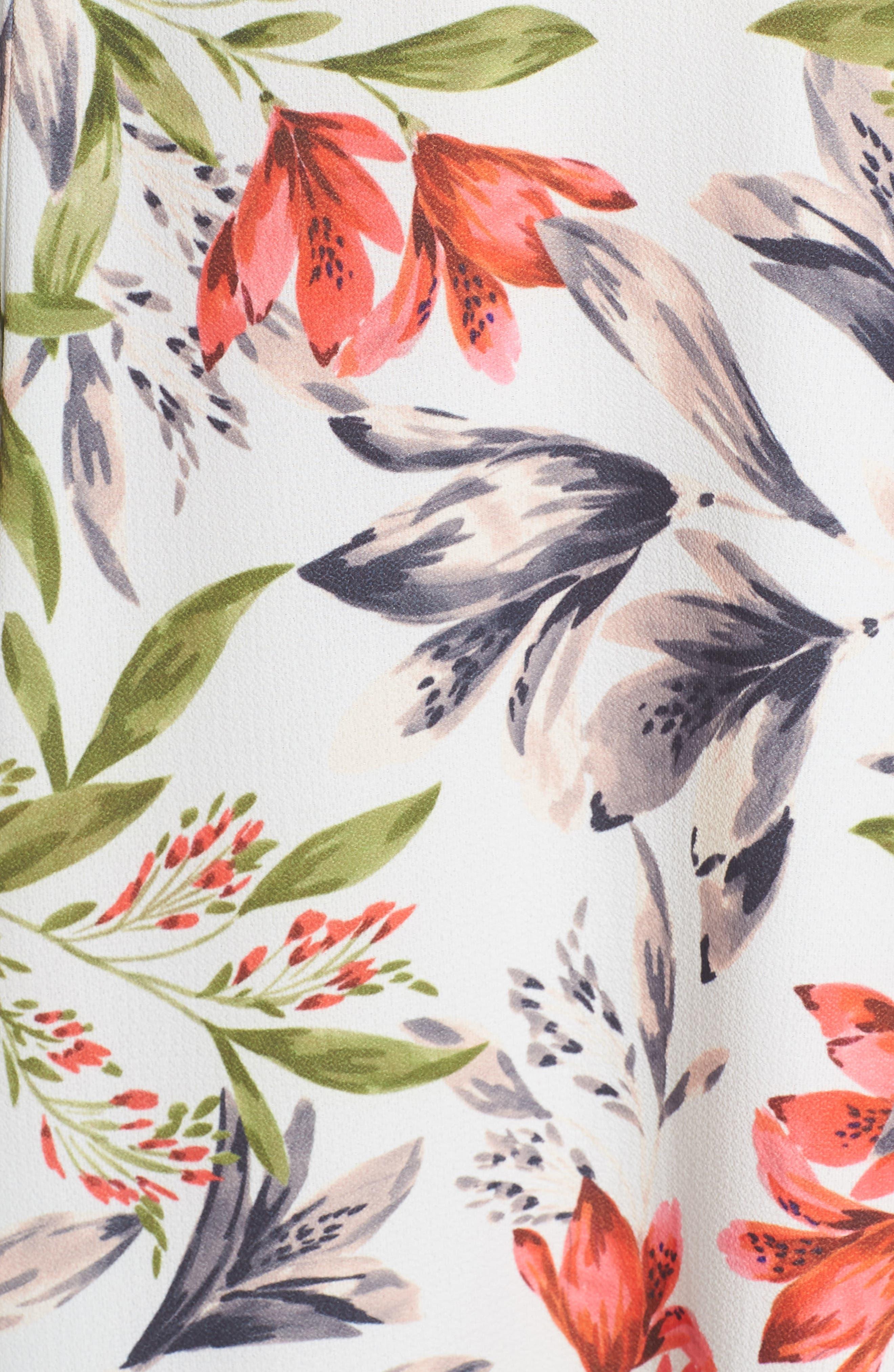 ,                             Cadencia Cari Floral Maxi Dress,                             Alternate thumbnail 6, color,                             LIGHT DREAM BLUE MULTI