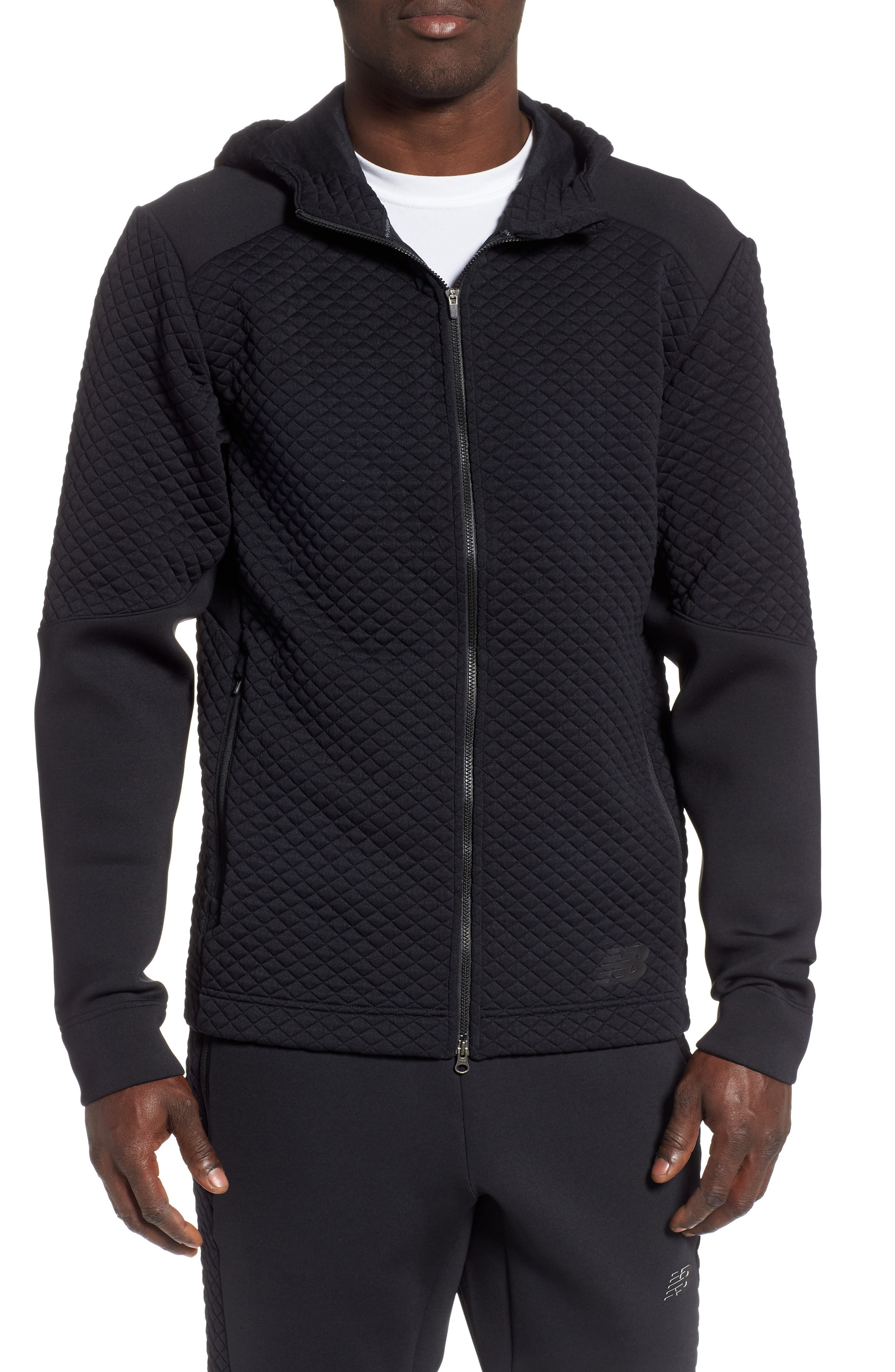 New Balance Heat Loft Zip Hoodie, Black