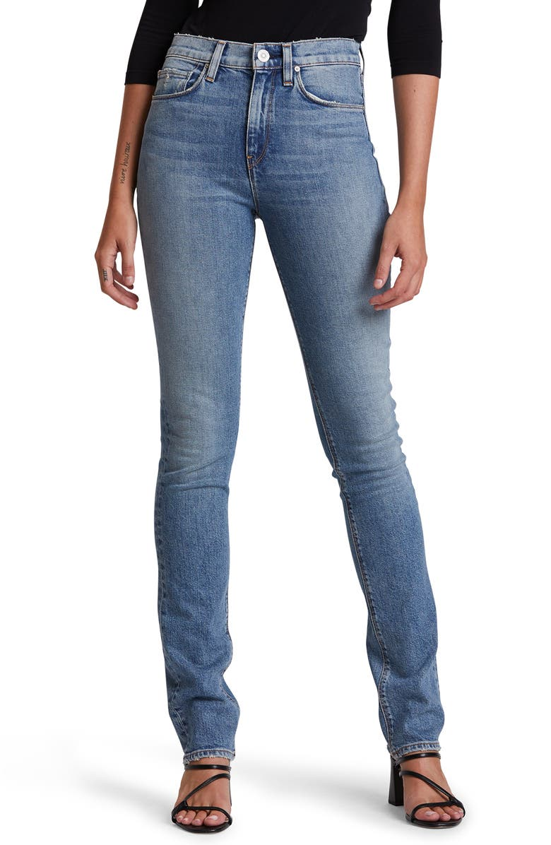 HUDSON JEANS Holly Ripped High Waist Straight Leg Jeans, Main, color, PERCUSSION