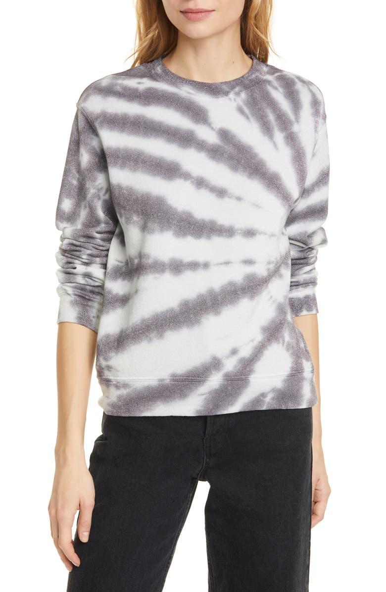 RTA Emma Glitter Tie Dye Sweatshirt, Main, color, 020