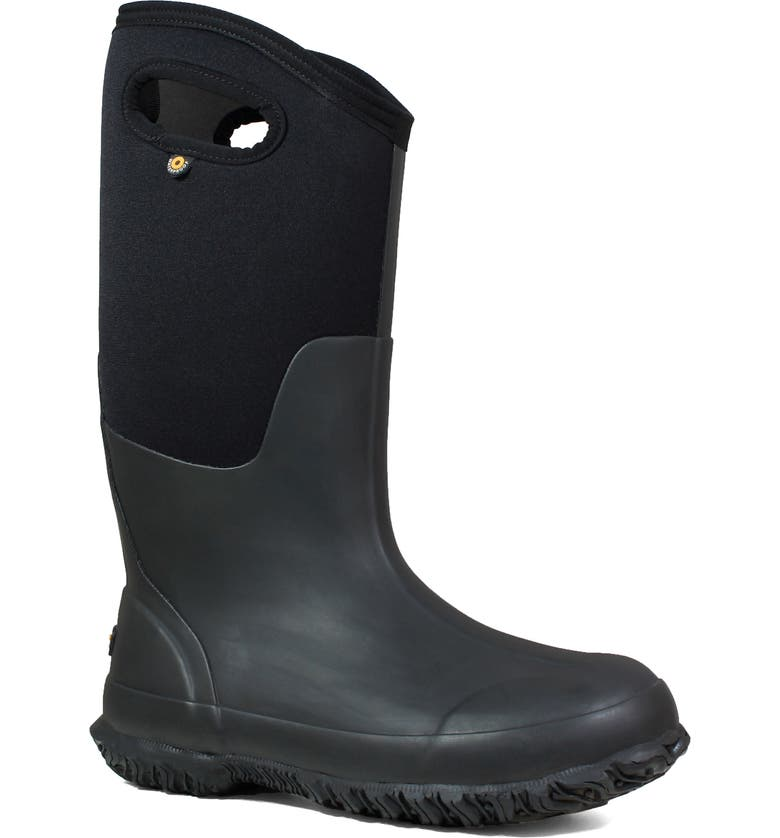 BOGS Classic Tall Matte Insulated Waterproof Rain Boot, Main, color, 001