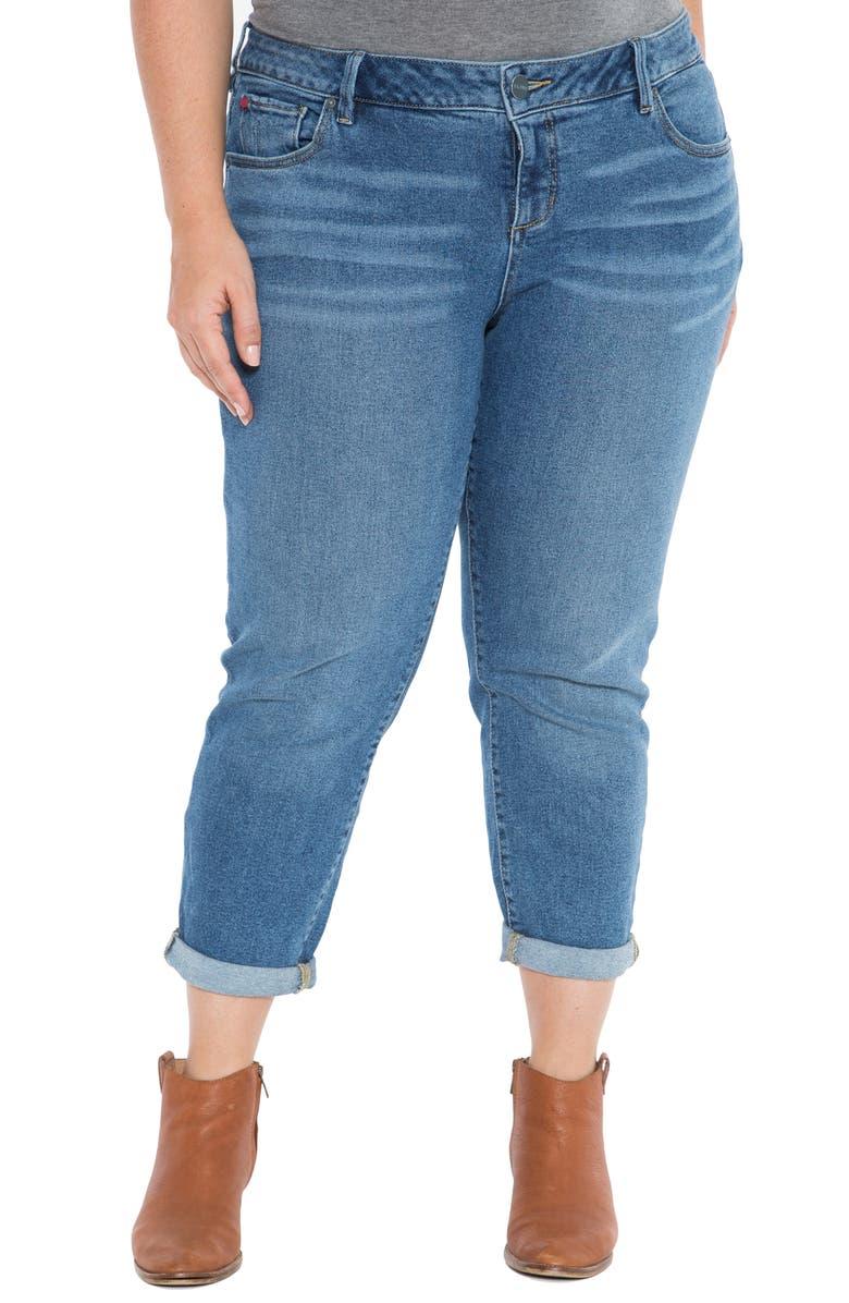SLINK JEANS Rolled Boyfriend Jeans, Main, color, VENUS