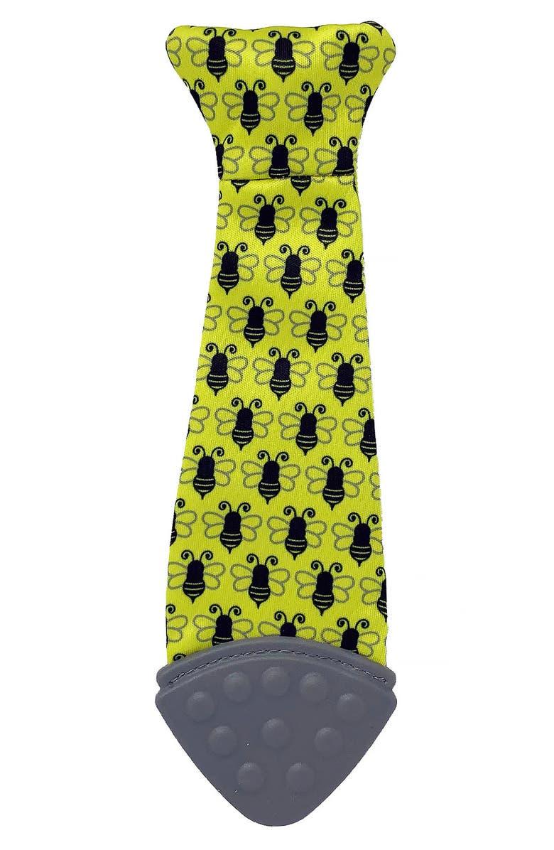 TASTY TIE Bee Wearable Baby Teething Tie, Main, color, YELLOW/ GREY