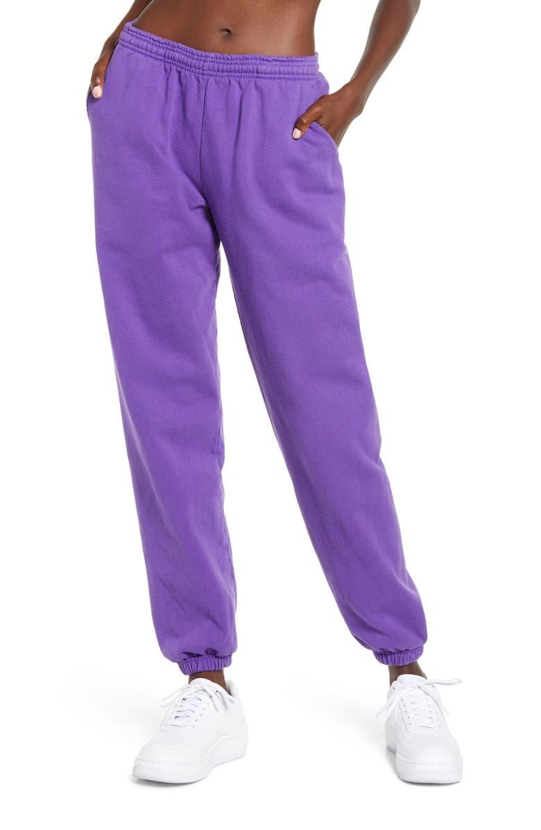 MELODY EHSANI ME. Rose Sweatpants, Main, color, GRAPE