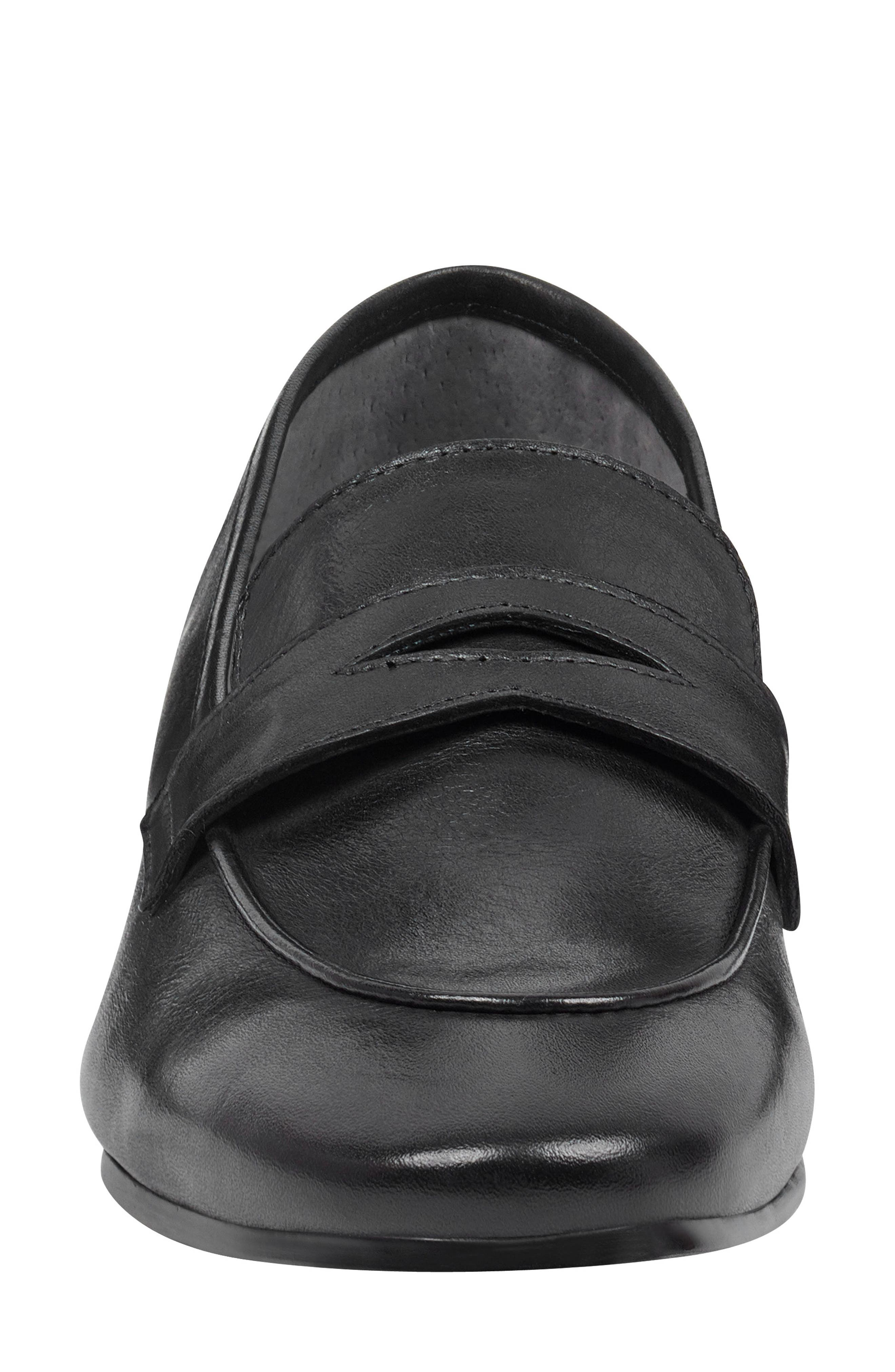 ,                             Chang Penny Loafer,                             Alternate thumbnail 4, color,                             BLACK LEATHER