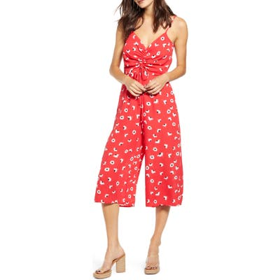 Row A Sleeveless Cinch Front Jumpsuit