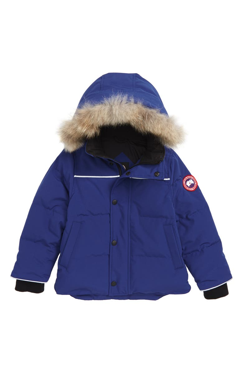 CANADA GOOSE Snowy Owl Down Parka with Genuine Coyote Fur Trim, Main, color, PACIFIC BLUE
