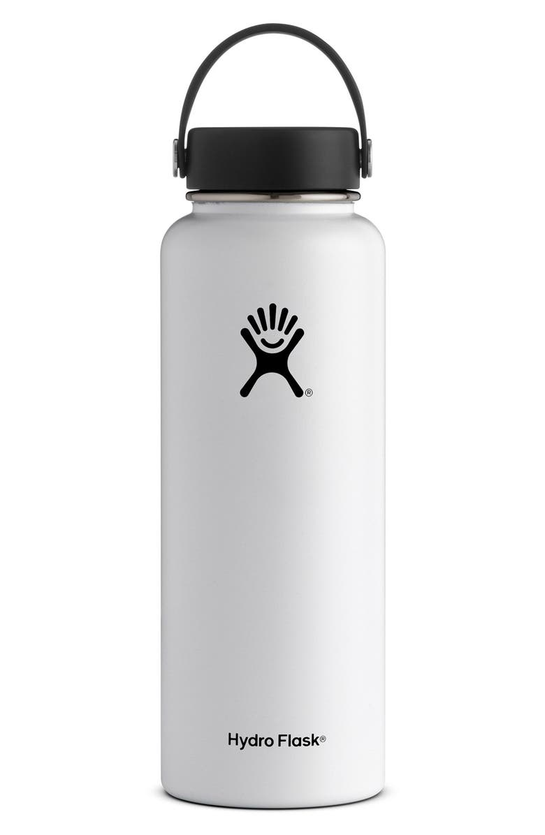HYDRO FLASK 40-Ounce Wide Mouth Cap Bottle, Main, color, 100